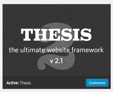 The Thesis Theme for WordPress