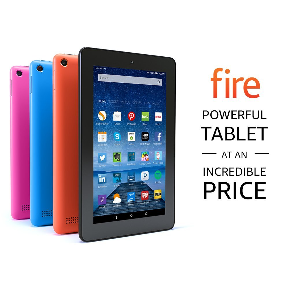 "Fire Tablet, 7"" Display, Wi-Fi, 8 GB coupon"