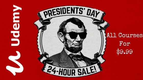 udemy presidents day sale